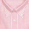 Orange Linen Cotton Stripe Shirt
