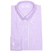 Purple Linen Cotton Stripe Shirt