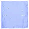Silk Woven Circles Pocket Square - Light Blue