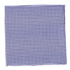Cotton Seersucker Gingham Pocket Square - Navy