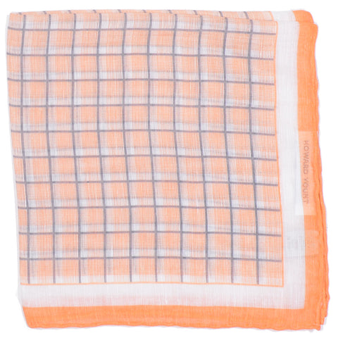 Cotton Linen Graph Square Square - Orange