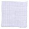Linen Glen Plaid Pocket Square - Light Gray