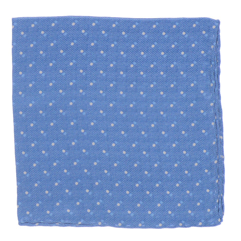 Silk Double Dot Square - Light Blue