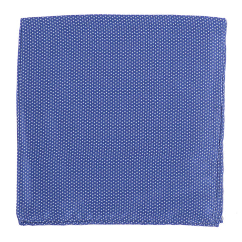 Silk Microdot Square - Navy