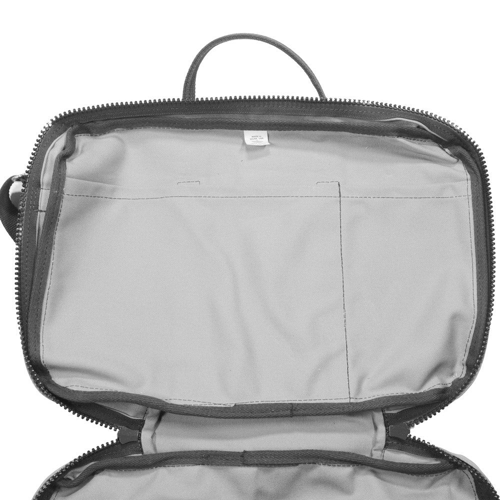 Canvas Briefcase - Gray and White