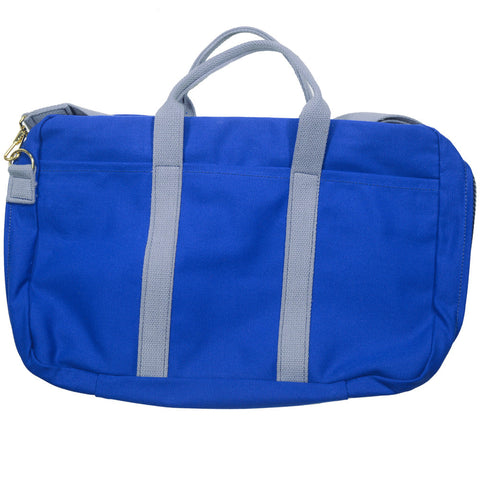 Canvas Briefcase - Blue and Gray