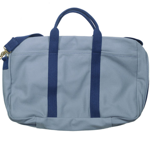 Canvas Briefcase - Gray and Navy