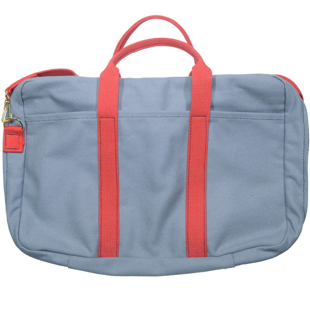 Canvas Briefcase - Gray and Red
