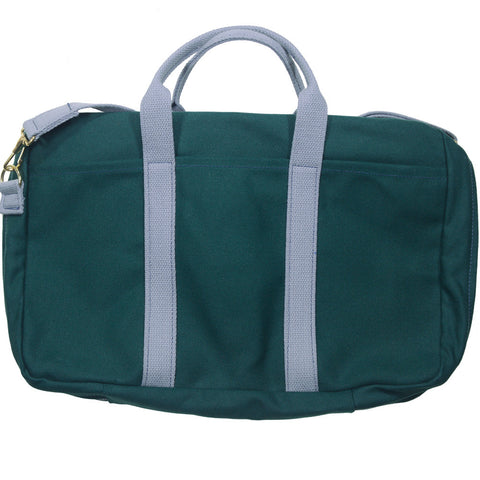Canvas Briefcase - Green and Gray