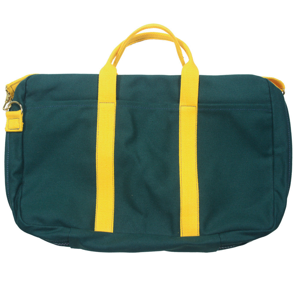 Canvas Briefcase - Green and Yellow
