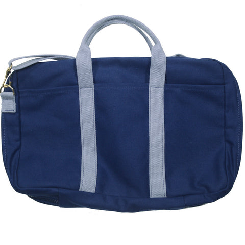 Canvas Briefcase - Navy and Gray