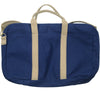 Canvas Briefcase - Navy and Tan