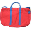 Canvas Briefcase - Red and Blue