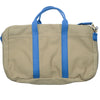 Canvas Briefcase - Tan and Blue