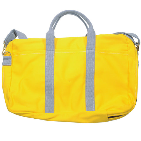 Canvas Briefcase - Yellow and Gray