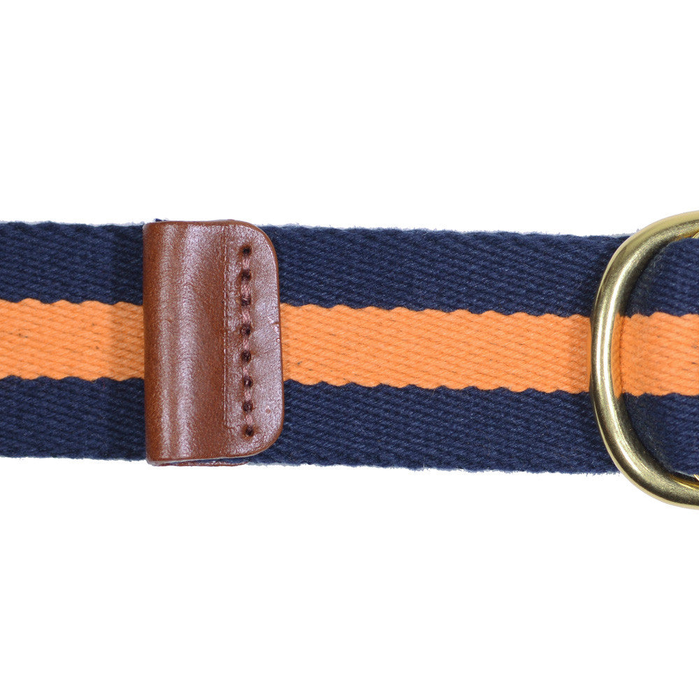 Surcingle Belt - Navy and Orange