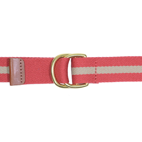 Surcingle Belt - Red and Khaki