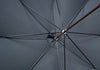 Dark Brown Ash Sleek Umbrella - Black