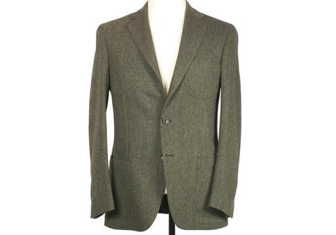 VBC Herringbone Tweed Suit - Green