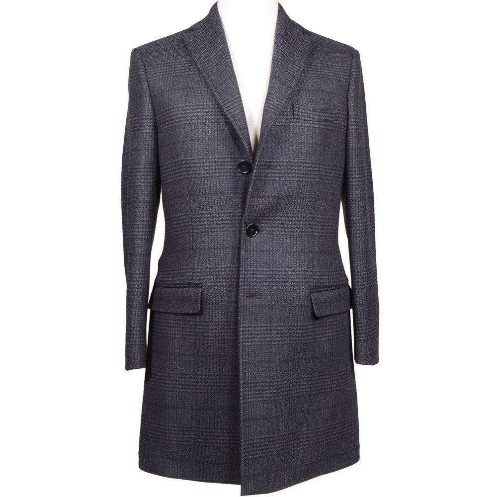 Glen Plaid Wool Overcoat