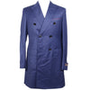 Wool Twill DB Overcoat - Navy