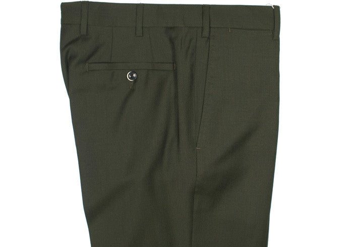 Tropical Wool Pants - Green