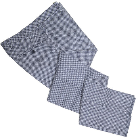 Houndstooth Flannel Pants - Gray