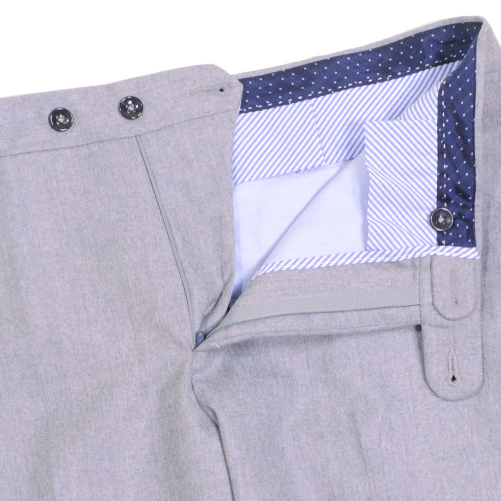 Microhoundstooth Wool Pants - Light Blue