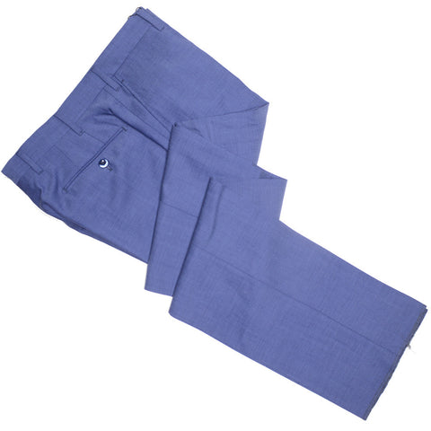 Summer Nailhead Wool Pants - Mid Blue