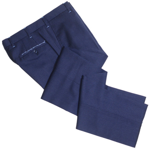 Italian Worsted Wool Pants - Navy