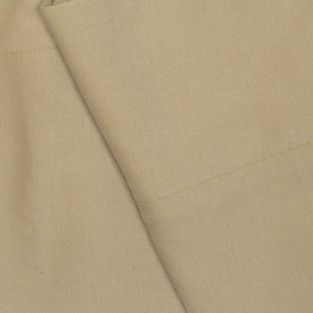 Brushed Cotton Twill Pants - Tan