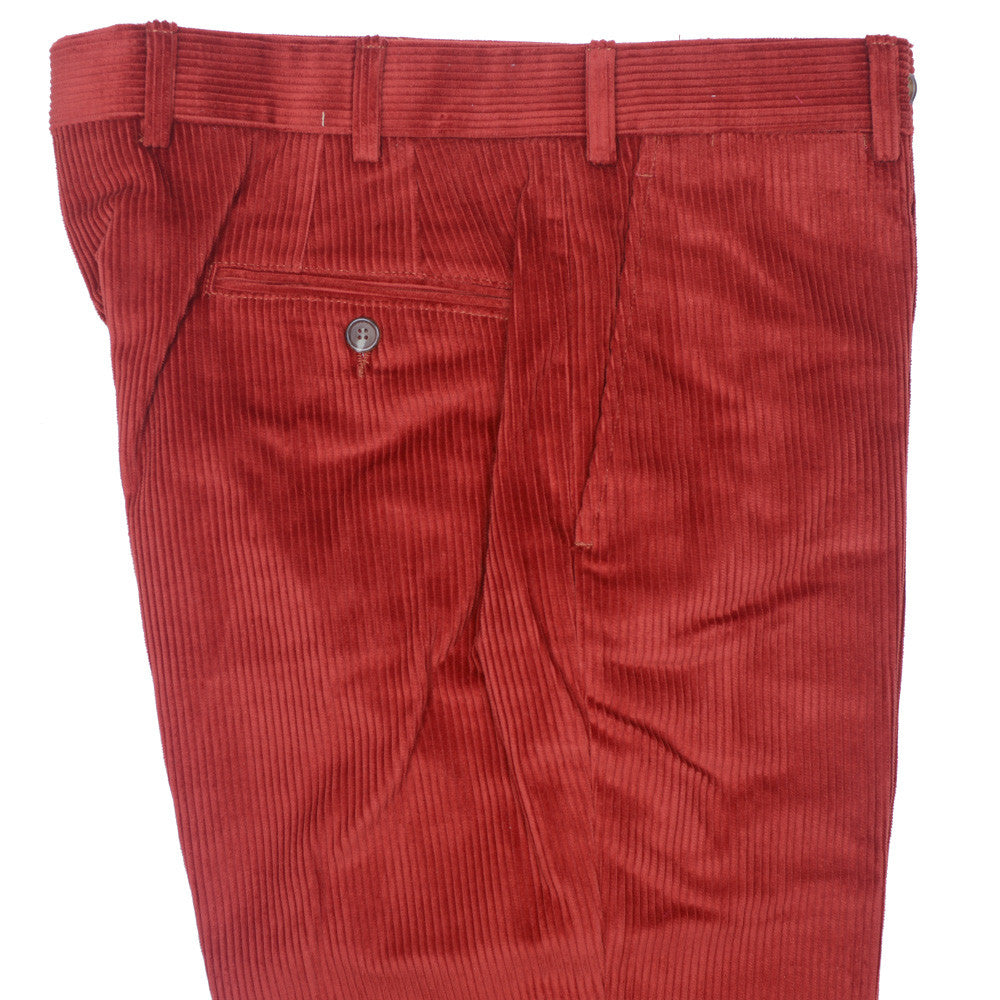 8 Wale Corduroy Pants - Burnt Orange - 28