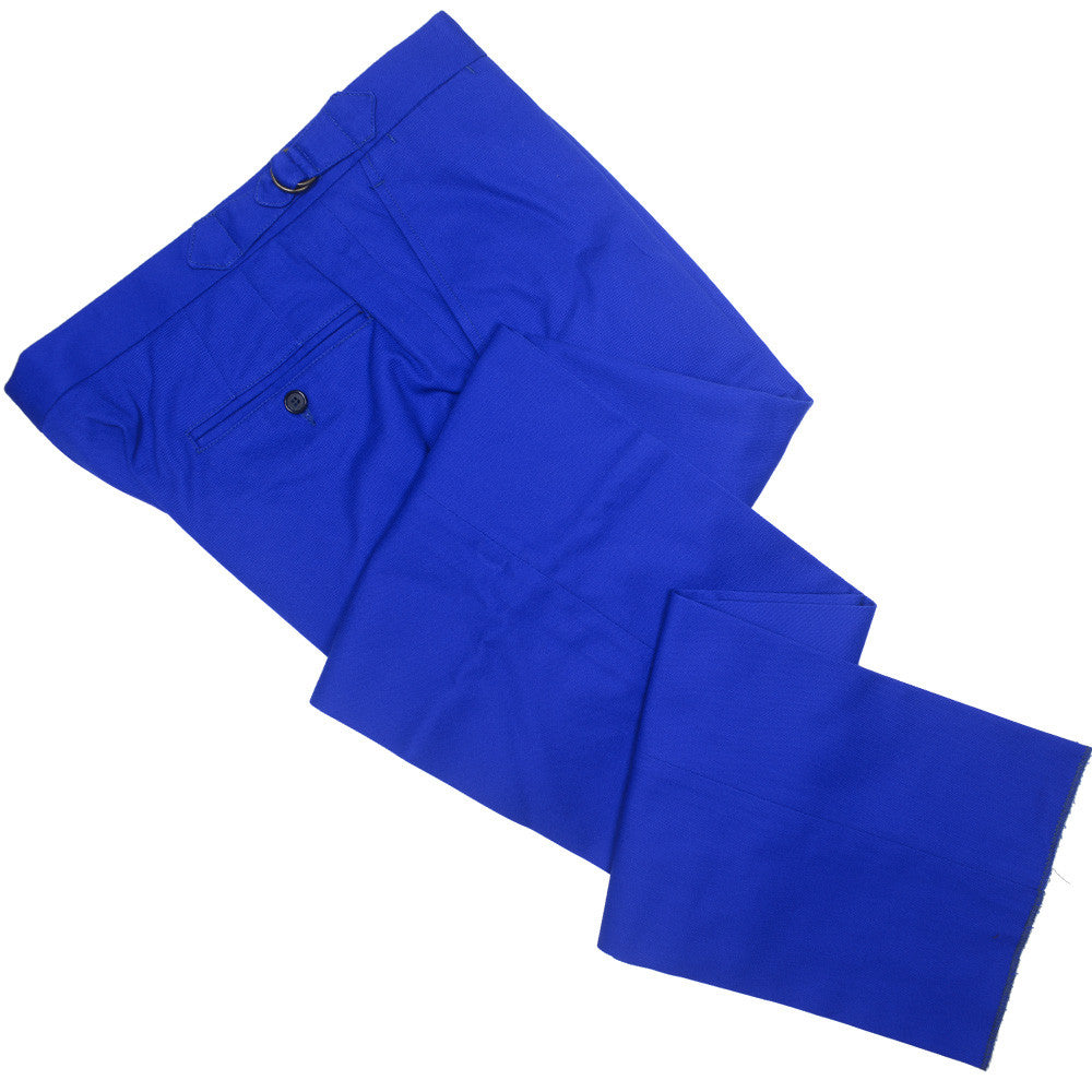 Cotton Twill D-Ring Pants - Royal Blue