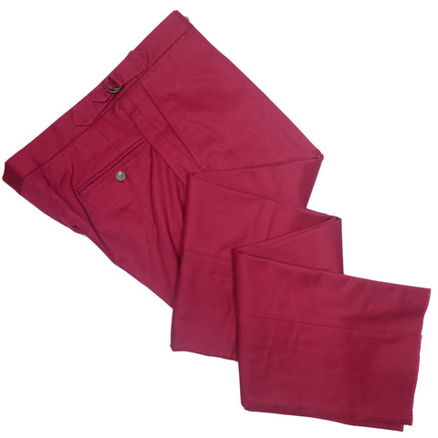 Cotton Twill D-Ring Pants - Red