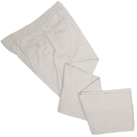 Washed Cotton Canvas Pants - Tan