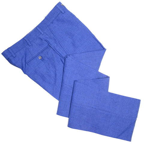 Cotton Linen Pants - Blue