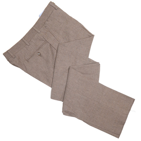 Cotton Linen Pants - Brown