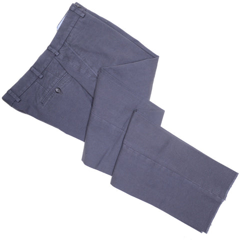 Washed Cotton Canvas Pants - Gray