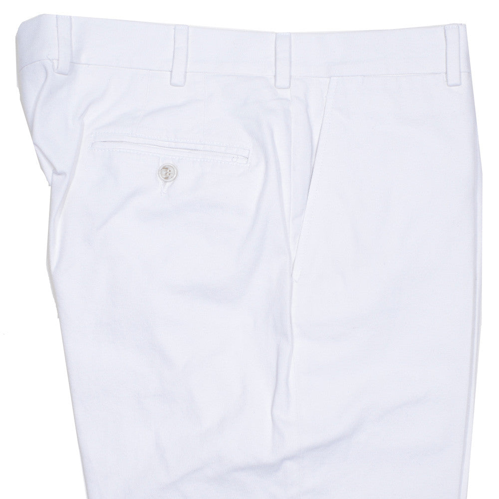 Washed Cotton Canvas Pants - White