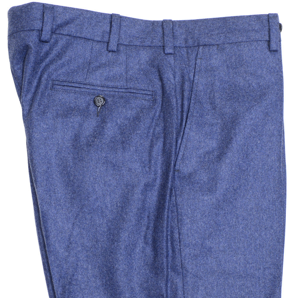 Lambswool Flannel Pants - Mid Blue