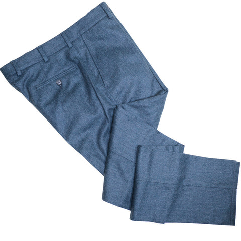 Lambswool Flannel Pants - Emerald Green - 40