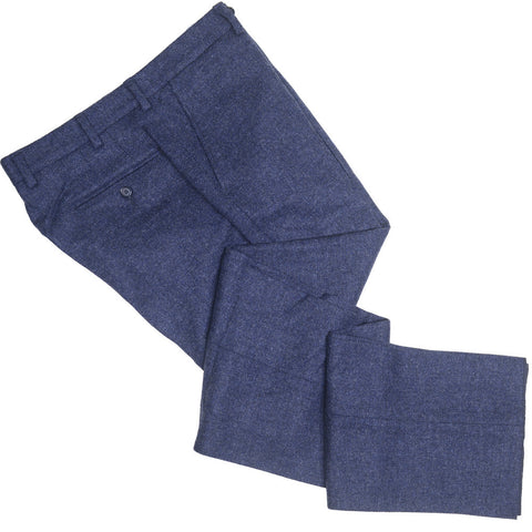 Lambswool Tweed Pants - Blue