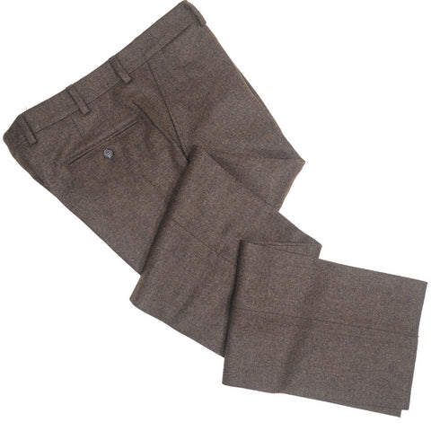 Lambswool Tweed Pants - Brown