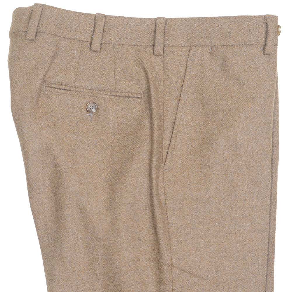 Lambswool Tweed Pants - Tan