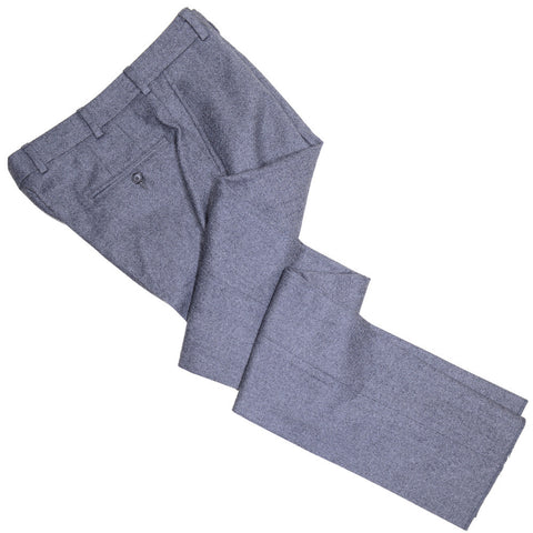 Brushed Wool Twill Pants - Gray