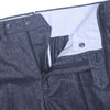 Windowpane Linen Pants - Blue