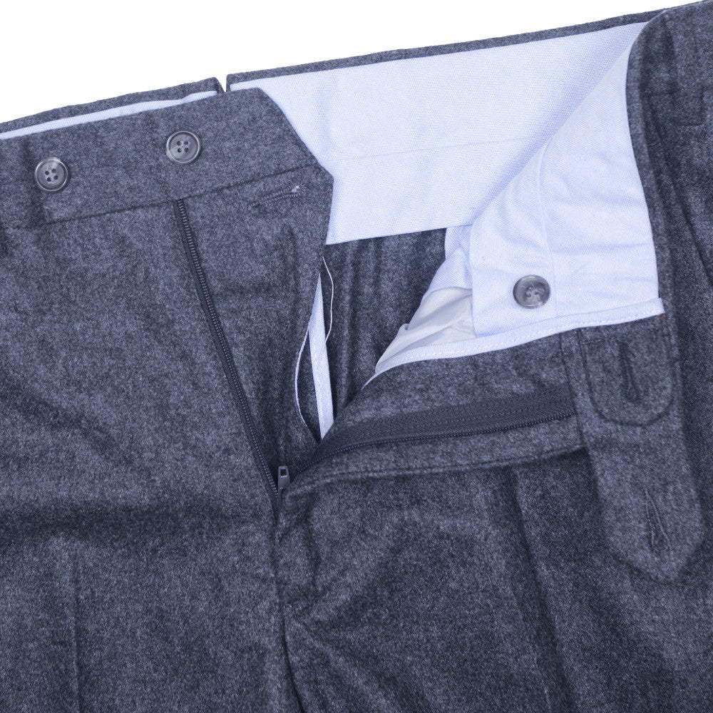 Windowpane Wool Pants - Gray and Gray