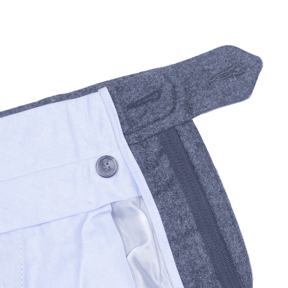 Washed Cotton Canvas Pants - Blue