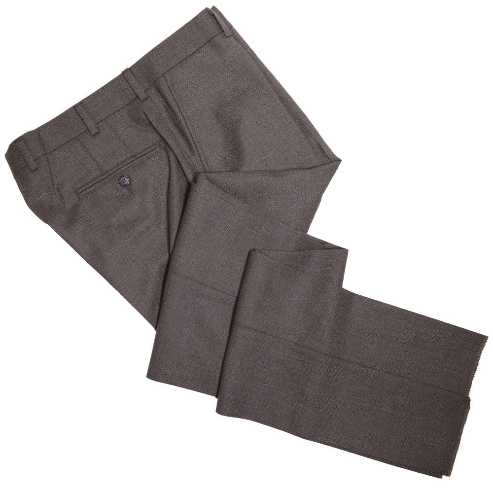 Wool Fresco Pants - Brown