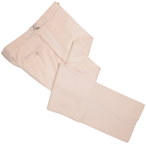 Super 120s Wool Gabardine Pants - Tan